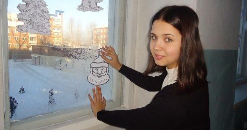 украшаем класс на новый год в школе