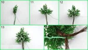 елка из бисера мастер класс с пошаговым фото для начинающих