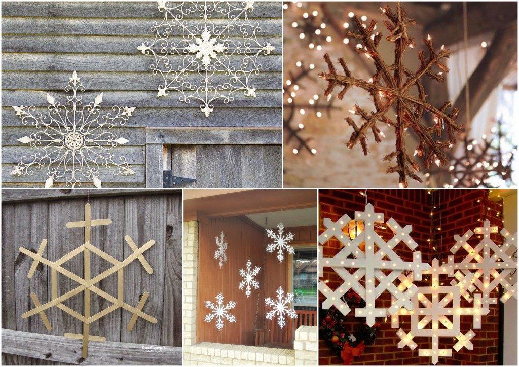 Зимние украшения для дома своими руками 75