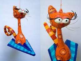 коты папье маше