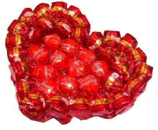 валентинки из конфет своими руками