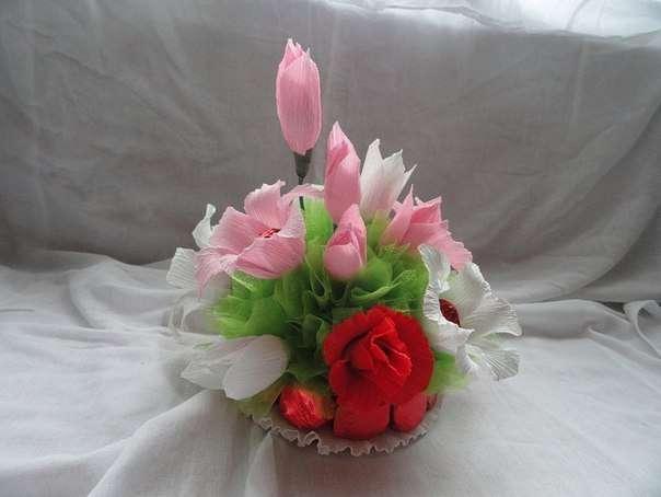 подарки из конфет на 8 марта фото
