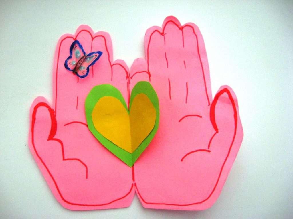 Поделки с ребенком открытки своими руками