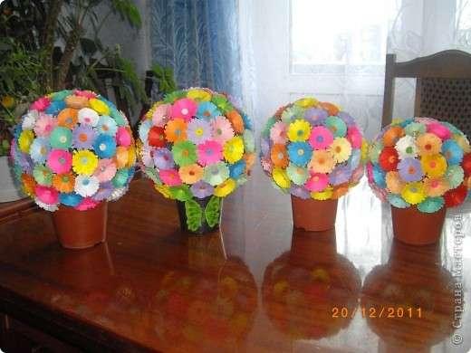 Весенний букет поделки для детского сада