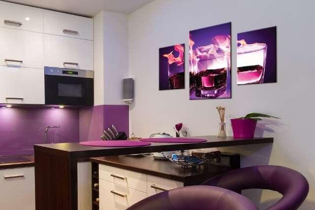 Фото модульных картин на кухне