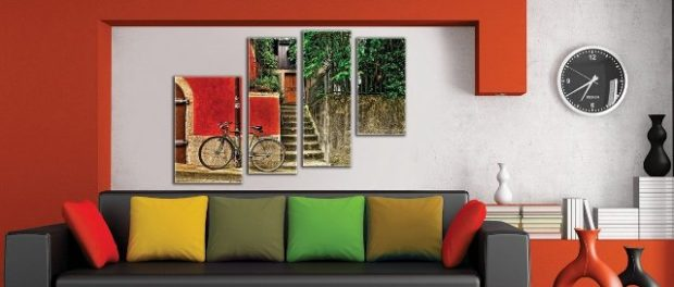 Модульные картины: фото в интерьере картин из нескольких частей