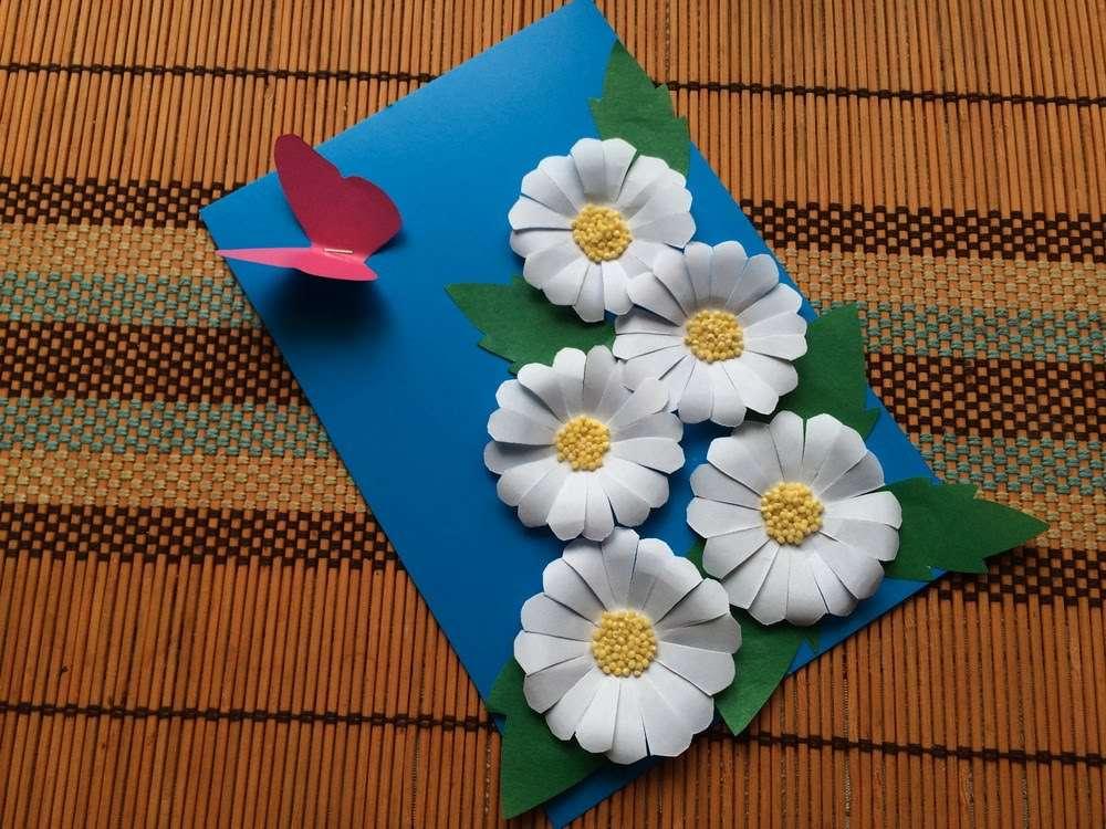 Цветок детям из цветной бумаги мастер класс