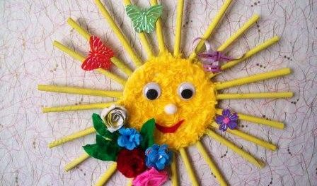 Сделать поделку солнышко в детский сад CAPITAL TOURS