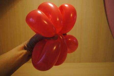 Цветок из шаров своими руками просто фото 908