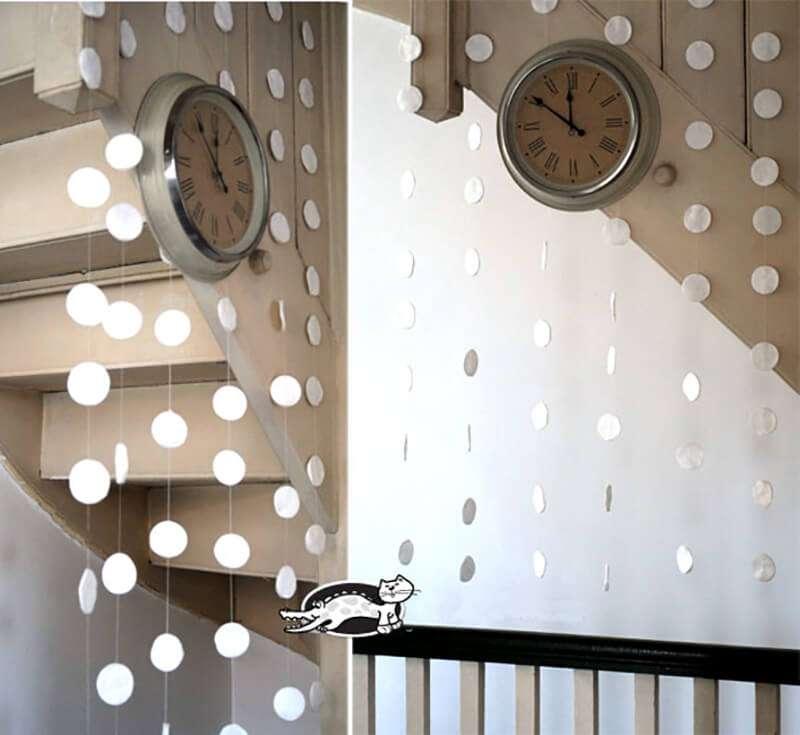 поделка из ватных дисков новогодние