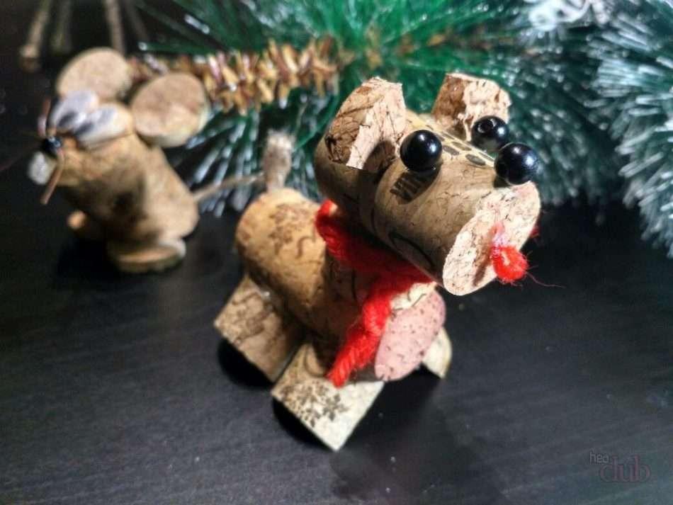 поделка собаки на новый год