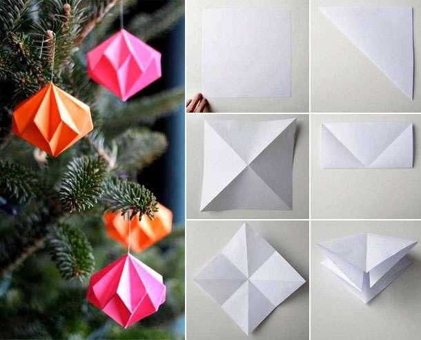 сделать поделки из бумаги на новый год