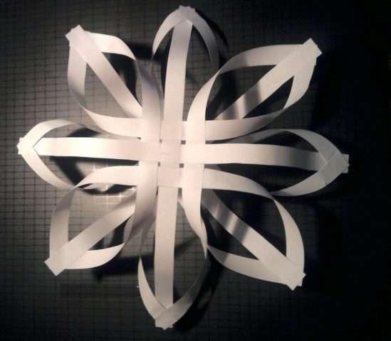 сделать снежинка на новый год