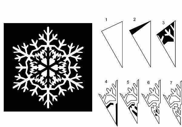 сделать снежинки на новый год из бумаги