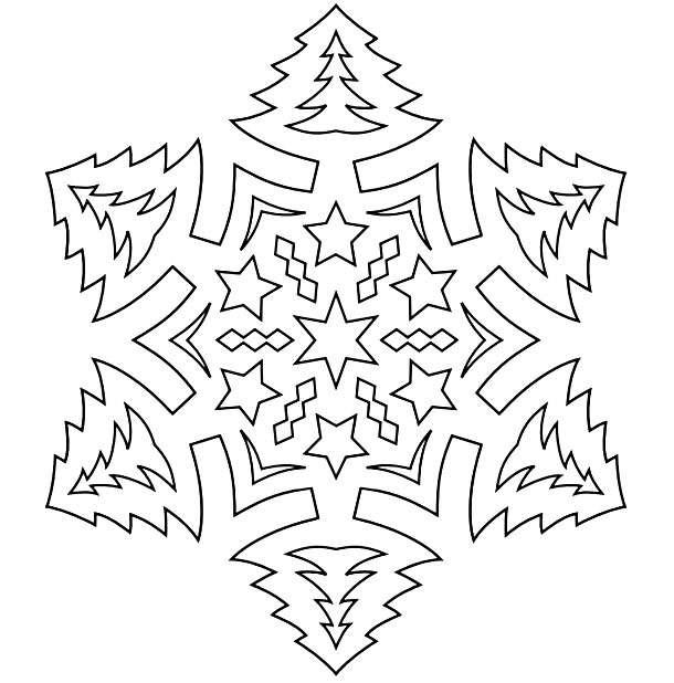 Вытынанки на Новый год из бумаги 2018, распечатать шаблоны