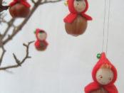 Природный материал и поделки из него на новогоднюю тематику