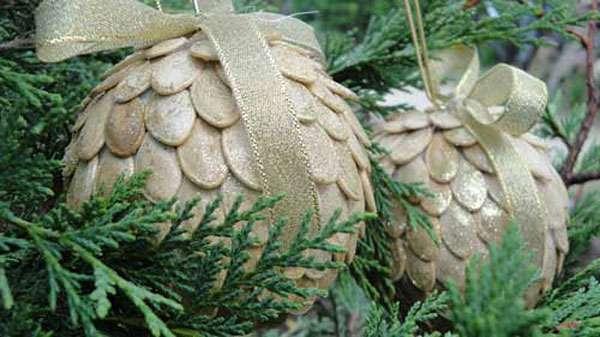 поделки из природных материалов на новый год