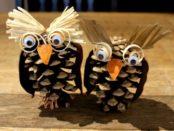 поделка совы из природного материала