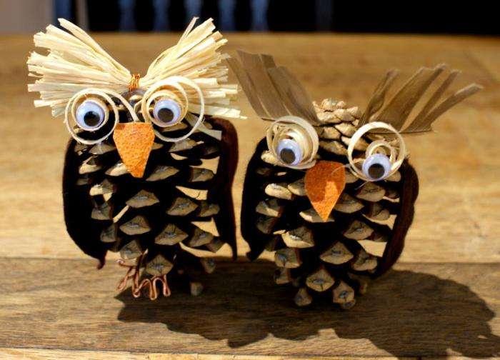 Осенние поделки своими руками Поделки из шишек своими руками для школьников сова