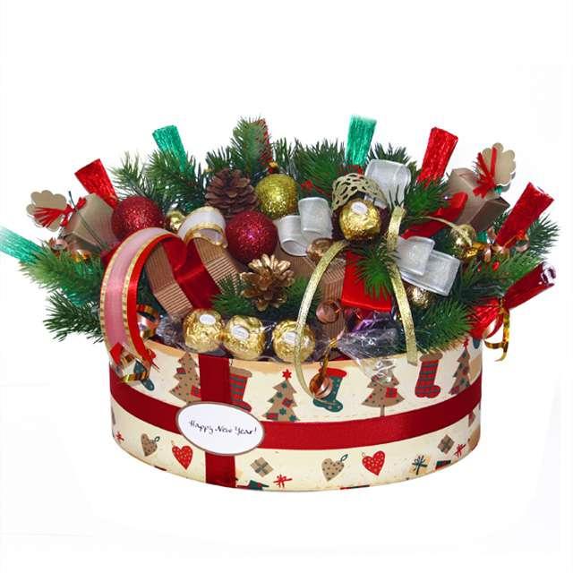 букеты из конфет композиции к новому году