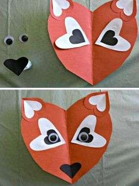 поделки на день святого валентина из бумаги для детей