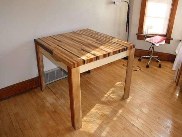 Изготавливаем самостоятельно обеденный стол для кухни