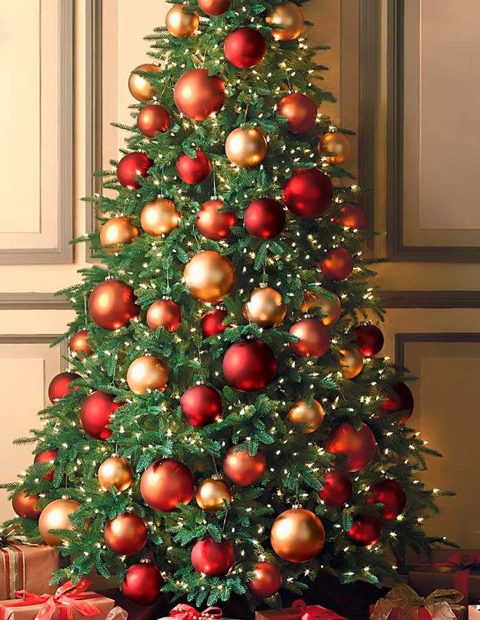 картинки украшенной елки