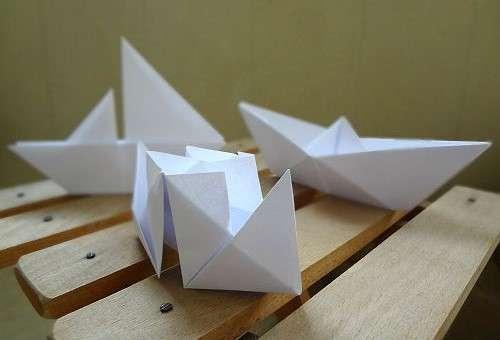 как делать кораблик из бумаги поэтапно