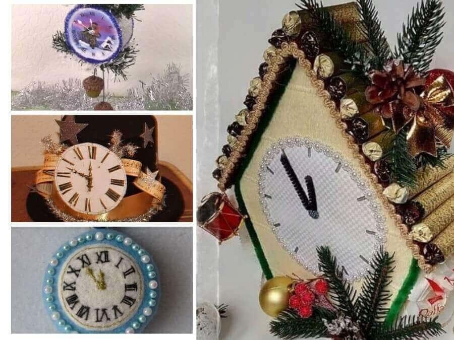 из чего сделать новогодние часы большие