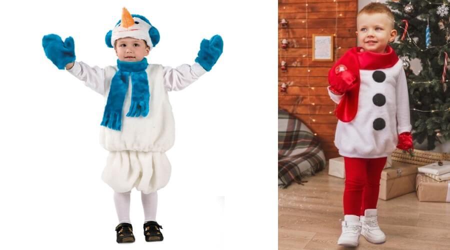 костюм снеговика ребенку своими руками