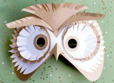 Как сделать маску совы из бумаги своими руками на голову | Svoimi-rukamy.com