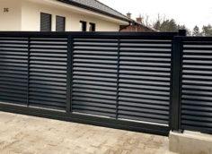 Металлический забор-жалюзи – стильное и современное решение