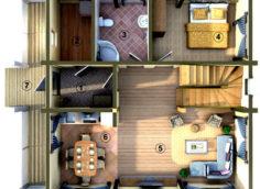 Современная планировка дома
